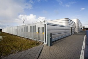 Well secured metal industrial building