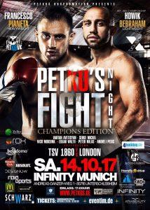 PETKO`S Fight Night am 14. Oktober 2017