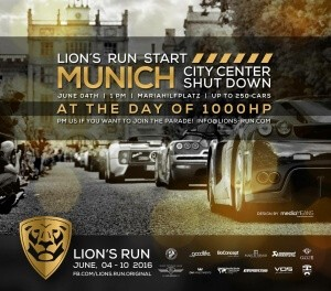 LION'S RUN 2016 Starts in Munich with a Car Parade